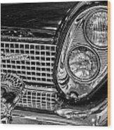 1958 Lincoln Continental Headlight Wood Print