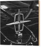 1958 Lincoln Continental Hood Ornament Wood Print