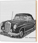 1958 Mercedes Benz 220s Wood Print