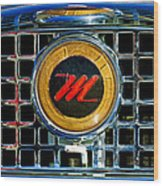 1958 Nash Metropolitan Hood Ornament 3 Wood Print