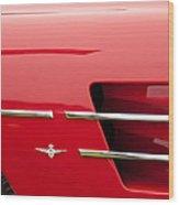 1958 Pegaso Z-103 Touring Berlinetta Side Emblem -1195c Wood Print
