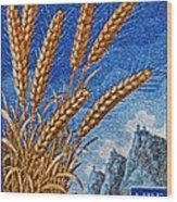 1958 San Marino Stamp Wood Print