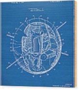 1958 Space Satellite Structure Patent Blueprint Wood Print