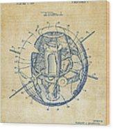 1958 Space Satellite Structure Patent Vintage Wood Print