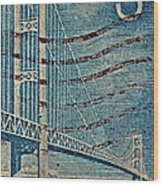 1958 The Mighty Mac Stamp Wood Print