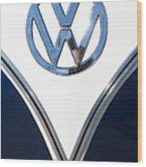 1958 Volkswagen Vw Bus Emblem Wood Print