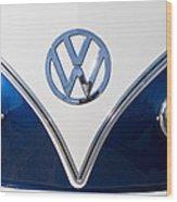1958 Volkswagen Vw Bus Hood Emblem Wood Print