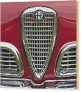 1959 Alfa Romeo Giulietta Sprint Grille Wood Print by Jill Reger