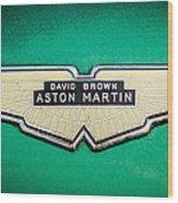 1959 Aston Martin Db4 Gt Hood Emblem -0127c Wood Print