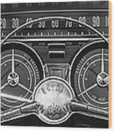 1959 Buick Lasabre Steering Wheel Wood Print by Jill Reger
