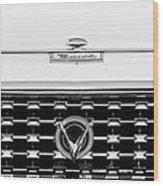 1959 Buick Lesabre Convertible Grille Emblems Wood Print