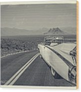 1959 Cadillac Eldorado Convertible Ambrotype Wood Print