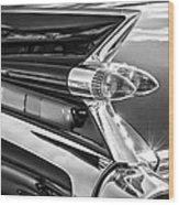 1959 Cadillac Eldorado Taillight -097bw Wood Print