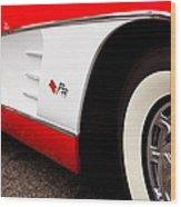 1959 Chevrolet Corvette Wood Print by David Patterson