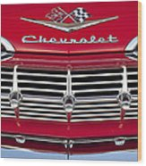 1959 Chevrolet Grille Ornament Wood Print by Jill Reger
