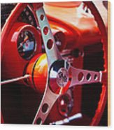 1959 Chevy Corvette Steering Wheel Wood Print