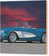 1959 Corvette Fuel Injected Wood Print