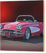 1959 Corvette Roadster 2 Wood Print