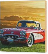 1959 Corvette Roadster Wood Print