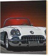 1959 Corvette Roadster I Wood Print