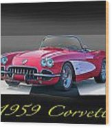 1959 Corvette Roadster II Wood Print