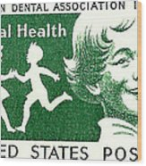 1959 Dental Health Postage Stamp Wood Print