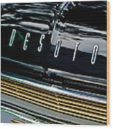 1959 Desoto Adventurer Hood Emblem Wood Print by Jill Reger
