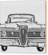 1959 Edsel Ford Ranger Illustration Wood Print