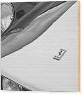 1959 Ferrari 250 Gt Emblem -0010bw Wood Print