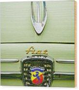 1959 Fiat 600 Derivazione 750 Abarth Hood Ornament Wood Print