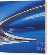 Blue Galaxie Wood Print
