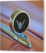 1959 Ford Thunderbird Convertible Hood Ornament Wood Print