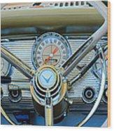 1959 Ford Thunderbird Convertible Steering Wheel Wood Print