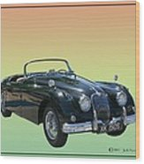 1959 Jaguar 150 S S Drop Head Coupe Wood Print