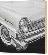 1959 Lincoln Continental Chrome Wood Print