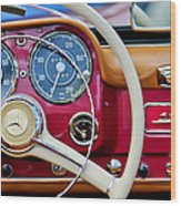 1959 Mercedes-benz 190 Sl Steering Wheel Wood Print