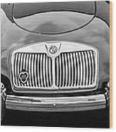 1959 Mg A 1600 Roadster Front End -0055bw Wood Print