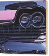 1959 Pink Plymouth Fury With Balloon Wood Print