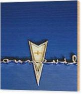 1959 Pontiac Bonneville Emblem Wood Print by Jill Reger