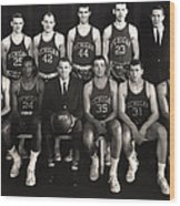 1959 University Of Michigan Basketball Team Photo Wood Print