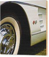 1959 White Chevy Corvette Wood Print