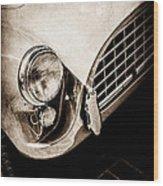 1960 Ac Aceca Grille Emblem -0058s Wood Print