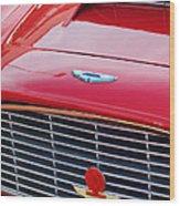 1960 Aston Martin Db4 Grille Emblem Wood Print