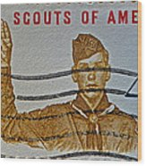 1960 Boy Scouts Stamp Wood Print