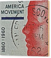 1960 Boys' Clubs Of America Movement Stamp Wood Print