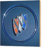 1960 Buick Lesabre Series 4400 Convertible Emblem Wood Print