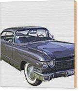 1960 Cadillac - Classic Luxury Car Wood Print