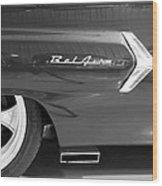1960 Chevrolet Bel Air 3bw 012315 Wood Print