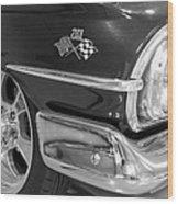 1960 Chevrolet Bel Air Bw 012315 Wood Print