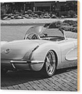 1960 Chevrolet Corvette -0880bw Wood Print